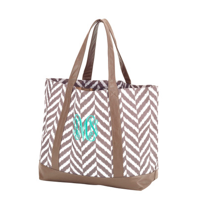 Herringbone Tote Bag Master Circle Monogram
