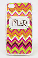 iPhone 4 Case  White wrap Pattern - Ziggy Hot
