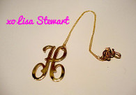 Alison Script Initial  Necklace