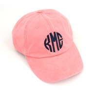 Color: Coral Font:   Circle Monogram Font Color: Black