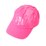Hot Pink Hat Cotillion Monogram White Thread