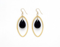 Kiss of Death - Black Onyx Faceted Tear Drop Stone