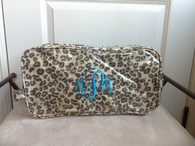 Large Toiletry Case - Laminated Cotton Canvas - lots of colors /patterns