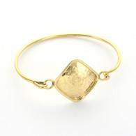 Hammered Diamond Gold-Tone Bangle