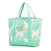 Mint with Coral Classic Monogram