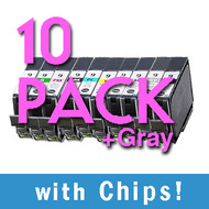 10 pack PGI-9 Compatible Black / Color Set
