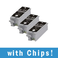 3 Pack Canon PGI-35 Compatible Black Ink Cartridge (w/ Chips)