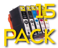 15 Pack HP 564 XL Compatible Ink Cartridges Combo (3 Each)  (Old Generation)