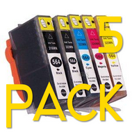 5 Pack Hp 564 XL Compatible Ink Cartridges Combo  (Old Generation)