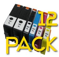 12 Pack HP 564 XL Compatible Ink Cartridges Combo  (Old Generation)