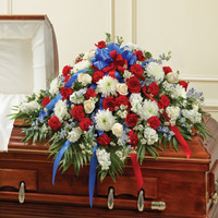 Red, White & Blue Half Casket Cover