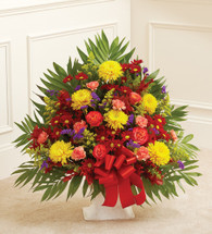 Sympathy Floor Basket in Fall Colors