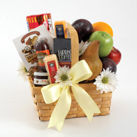 Fruit and Gourmet Basket For Sympathy