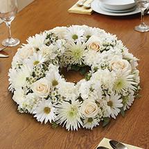 All White Centerpiece Wreath