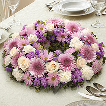 Lavender & White Centerpiece