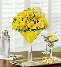 Martini Bouquet Lemon Drop