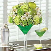 Green Dublin Apple Cocktail