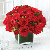 All Red Centerpiece Package