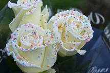 1 Dozen Birthday Cake Roses with Rainbow Sprinkles