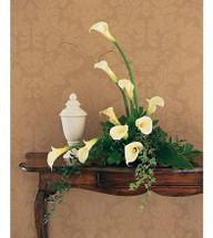 Calla Lily Cremation Wreath