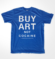 Buy Art Not Cocaine Throwback T-shirt
