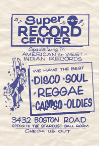 Super Record Center Postcard