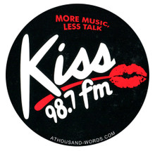 98.7 Kiss FM Sticker