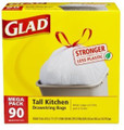 Glad Drawstring Bags 13Gal. 90/box
