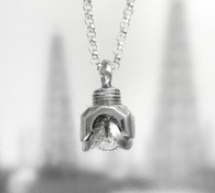 "OIL WELL DRILL BIT PENDANT WITH 24"" CHAIN"