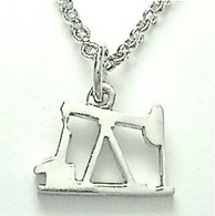 "STERLING SILVER OIL PUMP JACK PENDANT (sm) with 20"" chain"
