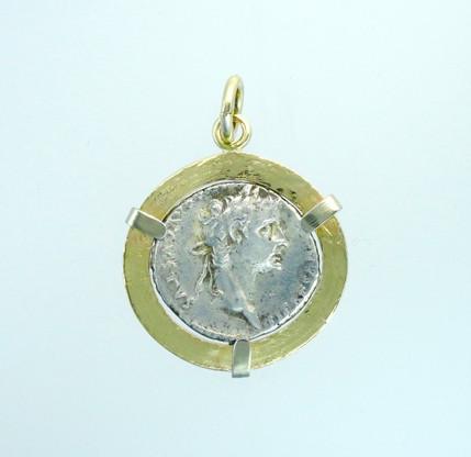 Obverse features a portrait of Caesar Tiberius, the step-son of Emperor Augustus.