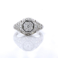 Modern styling with vintage flair give this ring a beautiful look.