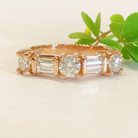 The BEATRICE Diamond Band features 0.81 Carats Total Weight Diamonds