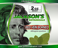 2 ounces of our freshest Red Vein Borneo crushed leaf.