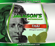 "10oz of Jackson's Thai Mitragyna speciosa Capsule Ready Powder.  If you are looking for a finer powder please check out our ""Ultra Fine Powders."""