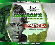 1 Kilo of Jackson's freshly milled Maeng Da Capsule Ready Powder.    SAVE 5% when you buy 2 Kilo's SAVE 10% when you buy 3-4 Kilo's
