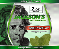 "2oz of Jackson's ""Ultra Fine"" Green Malay powder.  Our Green Malay has quickly become one of our most popular strains.  SUPPLY IS LIMITED!"