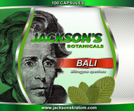 100 capsules filled with approximately 600mg of Bali Mitragyna speciosa powder.