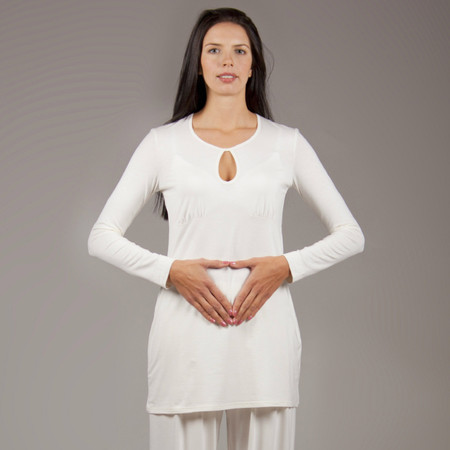 Bamboo, Ladies Tunic, white