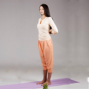 Sustainable Bamboo Top and Pant combination, Peach
