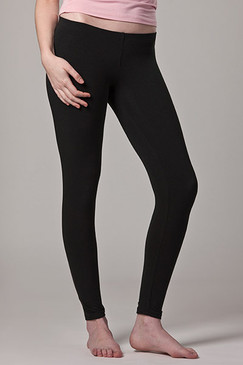 Long Leggings Black Bamboo