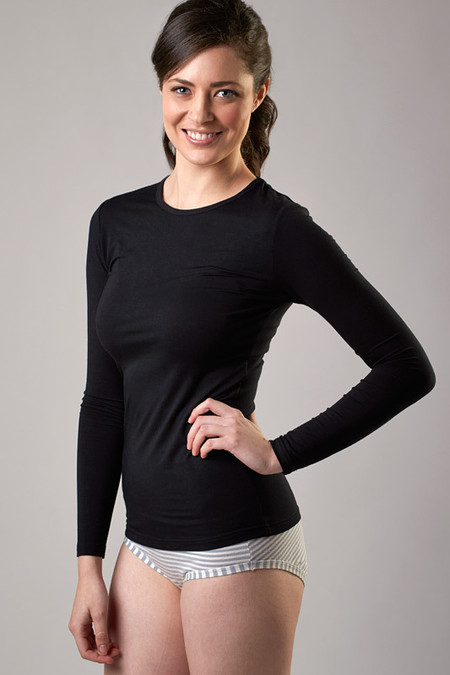 Black Basic Crew Long Sleeves