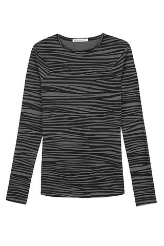 Angled Long Sleeve Organic Cotton - Grey Zebra