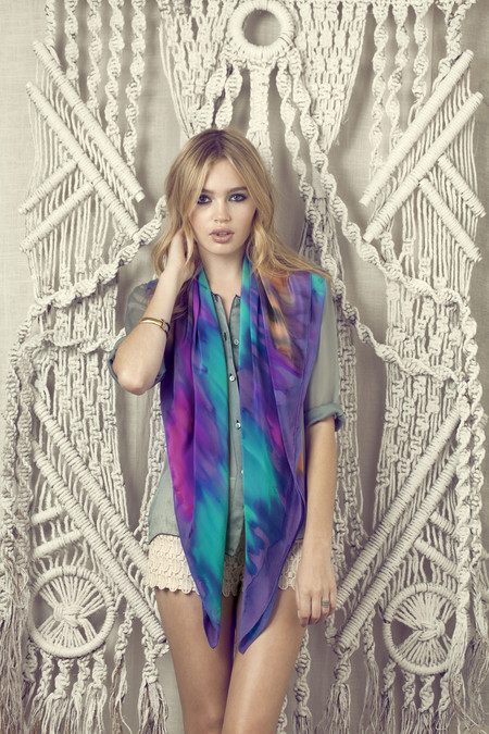 Dina Scarf - Hand Painted Silk