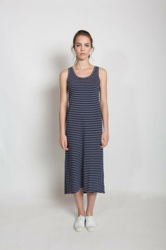 Jessie Maxi Dress - Navy Stripe