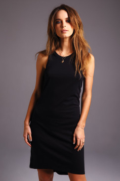 The perfect black tank dress