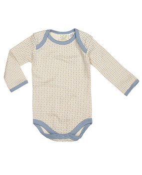 lovely blue baby suit in organic cotton