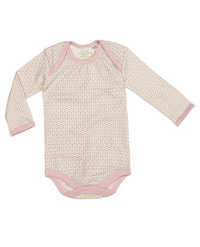 Lovely long sleeved baby suit in pink
