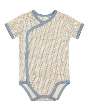 Organic Cotton Baby Kimono in Little Boy Blue