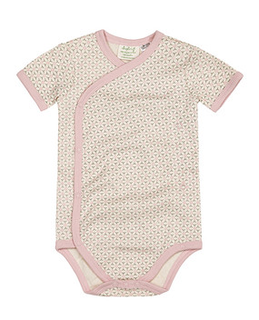 Organic Cotton Baby Kimono in Dusty Pink